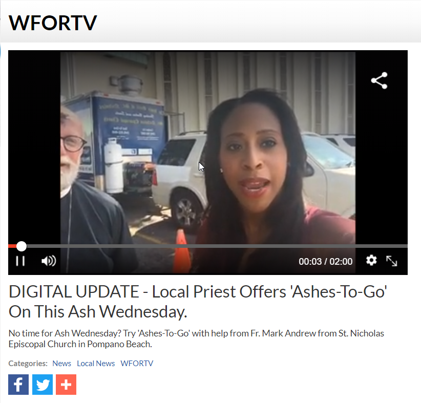 Ashes to go WFOR TV